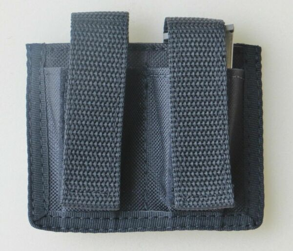 Black Double Magazine Pouch for Ruger LCP amp; Samp;W Bodyguard 380 Pistols