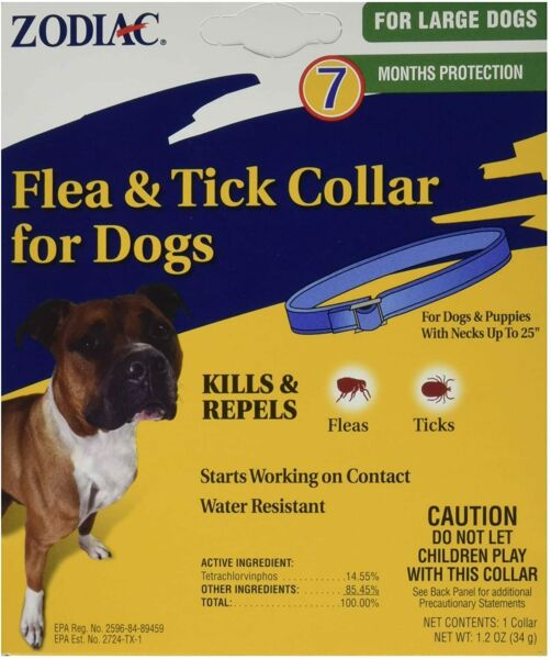 Flea and Tick Collar for Dog Dogs 7 Month Control Protection Water Resistant $6.50