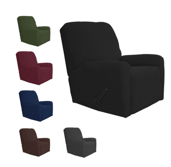 1 Piece Velvety Soft Stretch Recliner Chair Slip Cover New $24.99