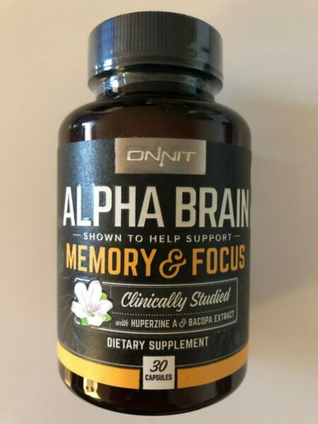 ONNIT: Alpha Brain Supplement MEMORY amp; FOCUS 30 Ct **CLINICALLY STUDIED**