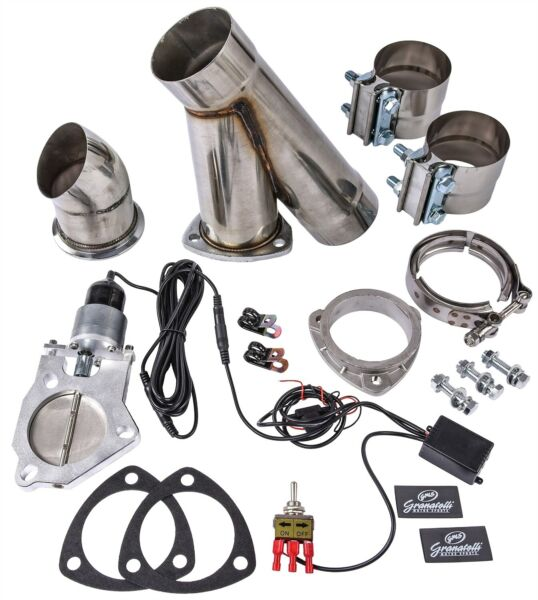 Granatelli 302525 Single Electric Exhaust Cutout System 2.5 Tube Diameter Bolt I