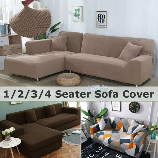 Stretch Slipcover Sectional Elastic Sofa Cover L shape Couch Protector Anti Dust $30.40