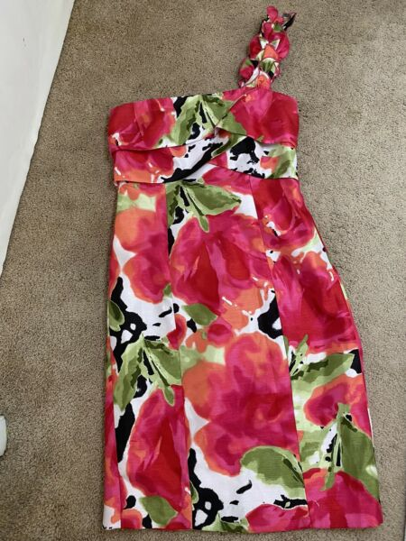 """London Times Dress 4 Pit To Pit 15 1 2"""" Great Condition One Strap Shoulder"""