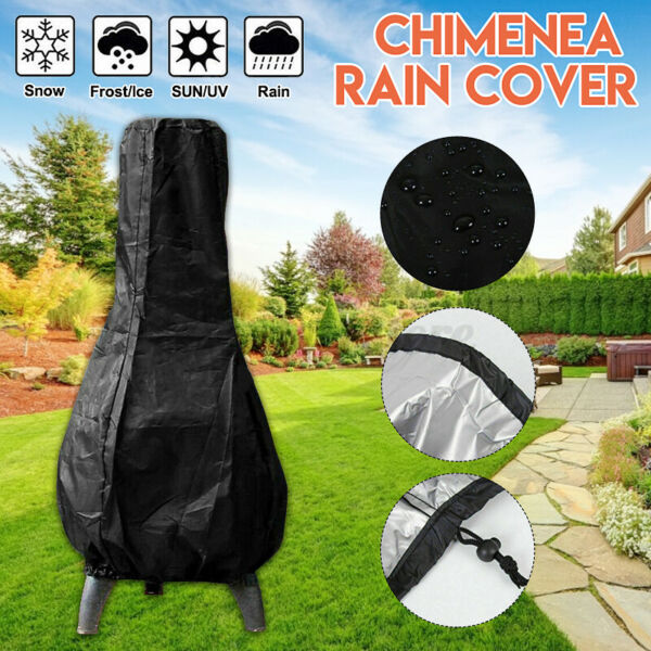 Outdoor Patio Chiminea Cover Waterproof Protective Chimney Fire Pit Heater Cover