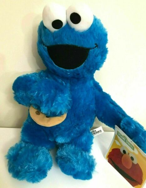 New Sesame Street Cookie Monster Large 14quot; . Plush Blue Soft Toy. New $17.99