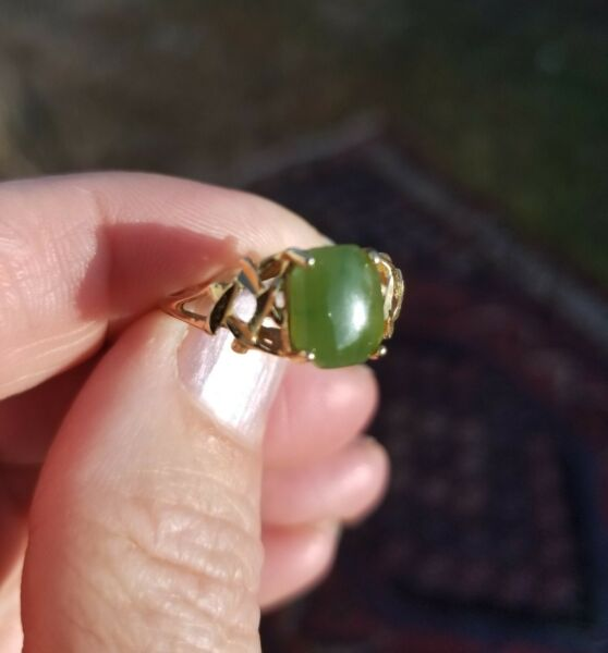14K Green Jade Size 7 1 2 7.5 Ring more Jade amp; Nephrite see store