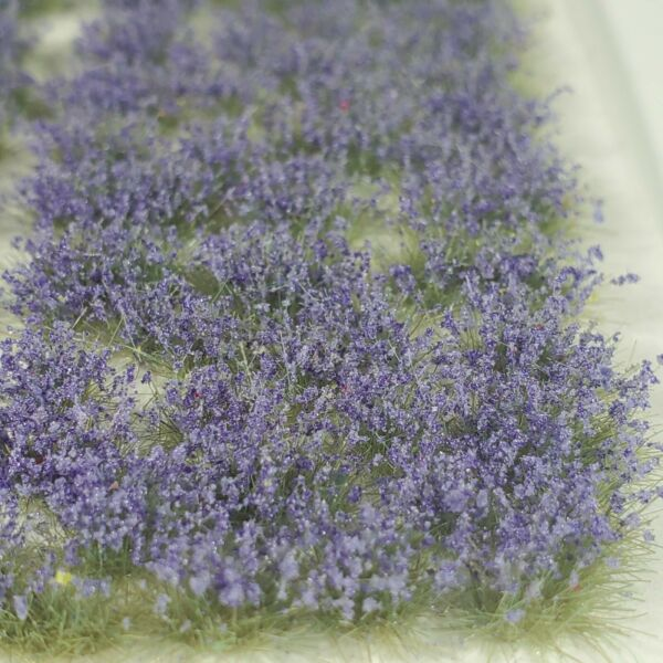 Self Adhesive Static Grass Tufts for Miniature Scenery Lavender Wildflowers 4mm