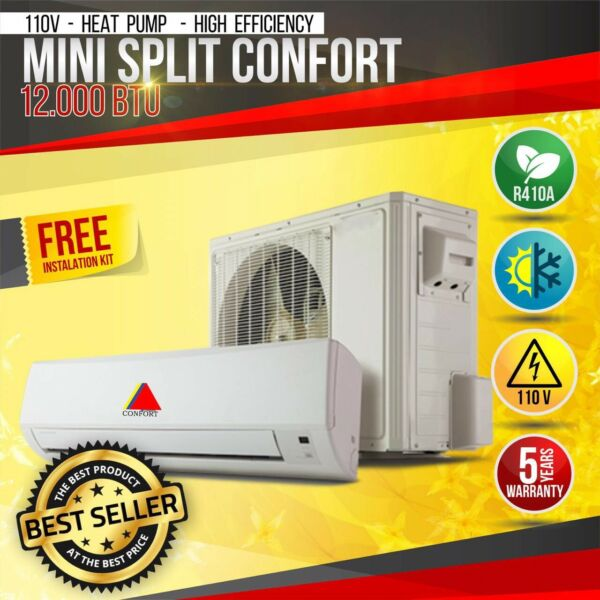 12000 BTU AIR CONDITIONER MINI SPLIT AC DUCTLES HEAT PUMP 110V $460.00