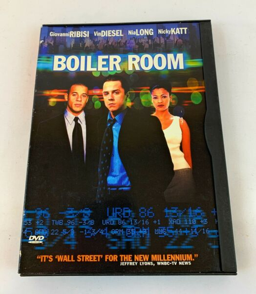 Boiler Room DVD 2000 Snapper Case $3.99