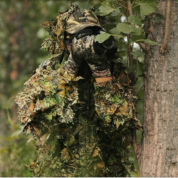3D Leafy Tactical Camo Camouflage Hunting Ghillie Suit Woodland Jungle Clothing