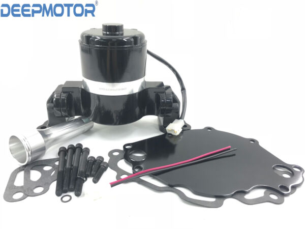 Small Block Ford Electric Water Pump 289 302 351W SBF High Volume Flow w PLATE $109.99