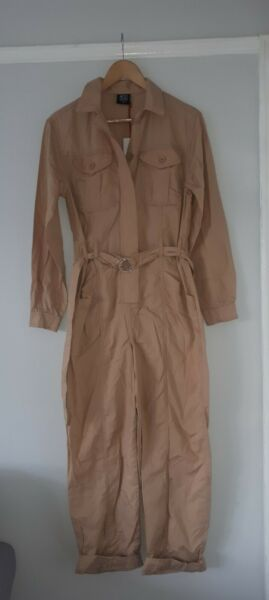 Urban Outfitters BDG Beige Jumpsuit Boiler Suit BNWT Size Small RRP £65 GBP 21.00