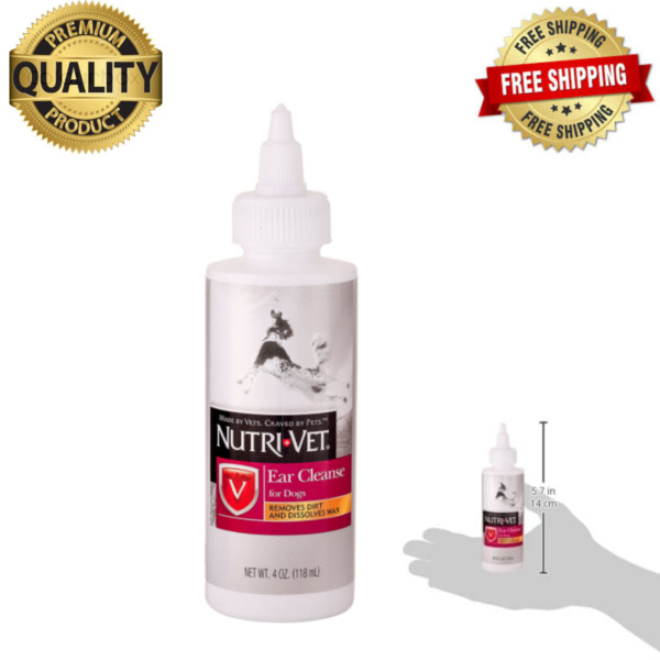Dog Pets Ear Cleaner Drops Infection Medicine Cleans amp; Removes Wax From Ears USA $9.99