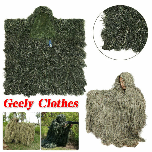 Ghillie Suits3D Leaves Woodland Camouflage Clothing Ghillie Cloak For Hunting