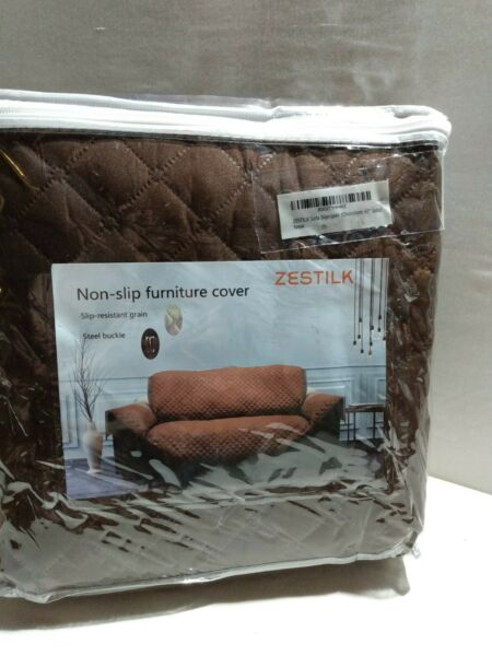 Non Slip Slipcover 67quot; Sofa Couch Cover Pet Dog Cat Kid Protector Brown NEW $14.99