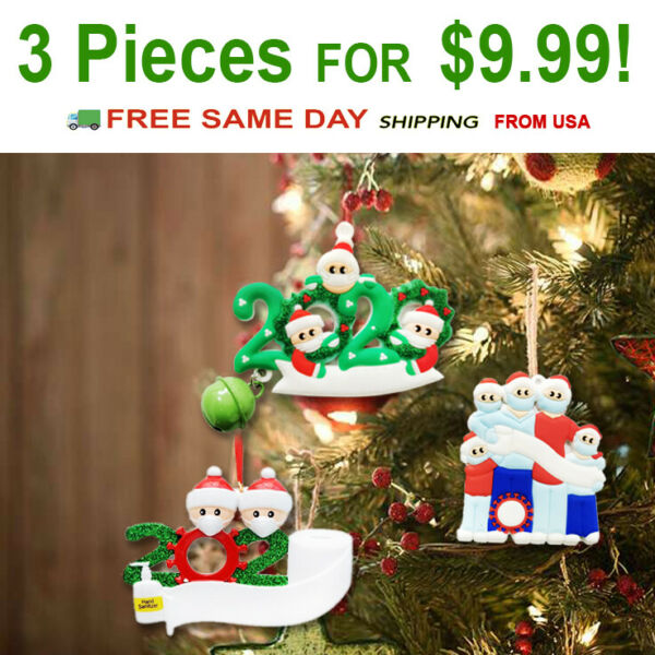 Diy Personalized Christmas Ornament 2020 Christmas Hanging Ornaments Family Gift $9.99