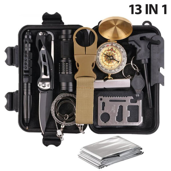 Emergency Kit Survival Gear Tools Military Camping Tactical Outdoor Disaster