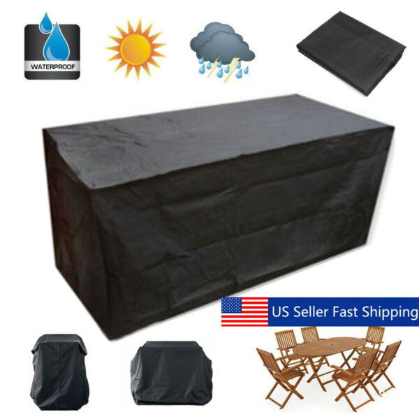 Garden Patio Furniture Waterproof Rectangular Outdoor Rattan Tabl $30.34