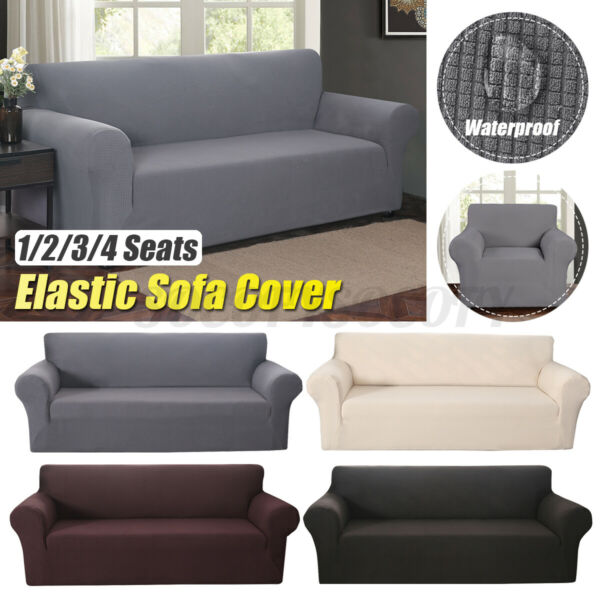 Elastic Stretch Sofa Cover Fabric Couch Slipcover Sofa Protector 1 2 3 4 Seats $28.28