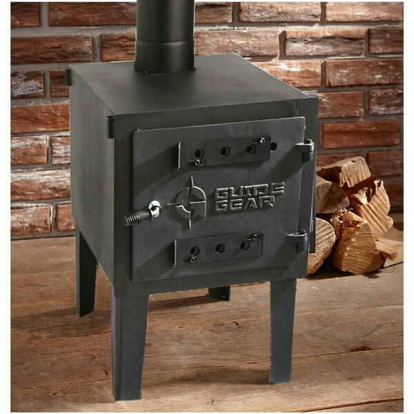 GUIDE GEAR Outdoor Wood Stove Adjustable Air Vent Camp Warmer Coffee Sauce Pans $139.49