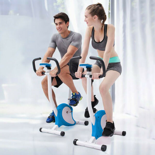 Indoor Stationary Bike Exercise Bicycle Cycling Cardio Gym Workout Fitness LCD A $52.34