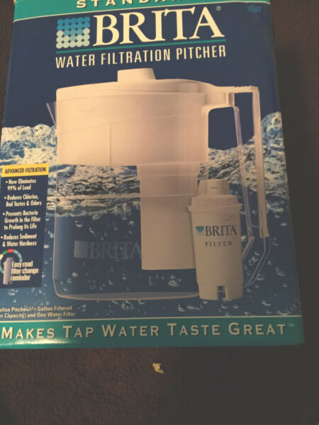 Brita Water Pitcher Filtration System Brand New In Box Basic Classic Model White