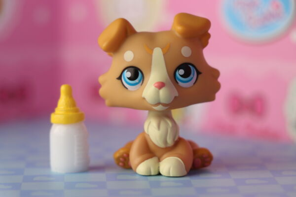 lps Tiramisu Collie with Ear up White and Tan Different Eyes OOAK Custom $13.29