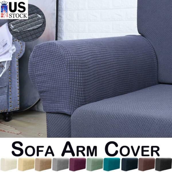 Removable Stretch Sofa Armrest Arm Chair Slip On Covers Spandex Couch Protector $10.19