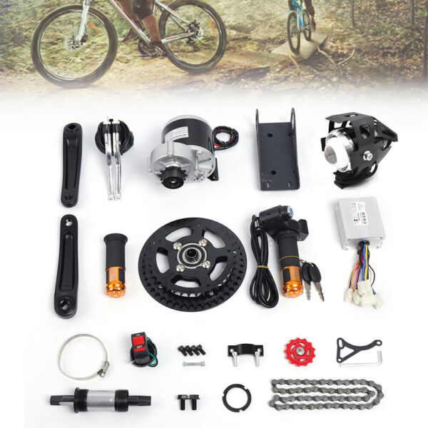 Electric Bicycle Motor Conversion Mid Drive Kit e Bike 350 450W Refit e Bike DIY $219.00