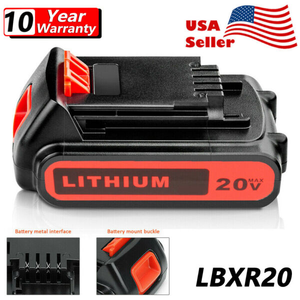 3.0Ah For Black amp; Decker 20V Lithium MAX Battery 20 Volt Li Ion LBXR20 LBXR2020