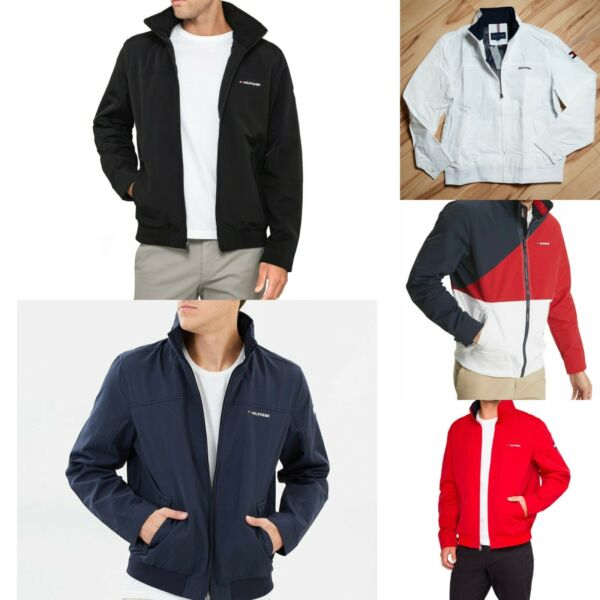 New Tommy Hilfiger Mens Yacht Jacket Windbreaker All Sizes Water Resistant NWT $78.99