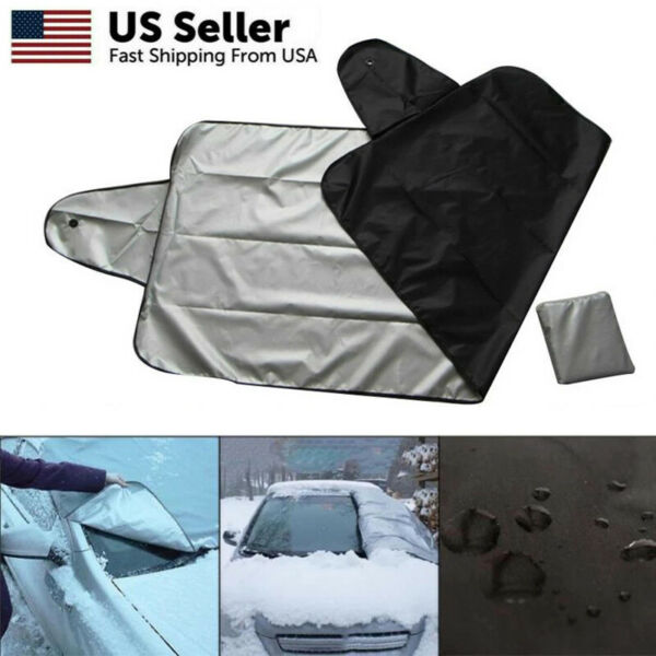 Windshield Cover Snow Ice for Car Frost Guard Winter Protector Magnetic Auto USA $6.99