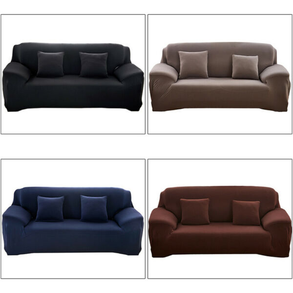 1 2 3 4 Seater Stretch Chair Sofa Cover Slipcover Couch Loose Covers Elastic $12.99