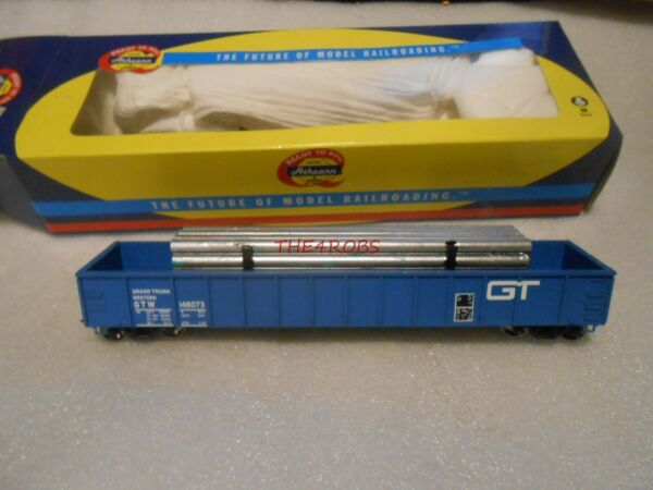 Athearn 52#x27; Mill Gondola GTW Grand Trunk Western Pipe Load HO 97419 $24.99