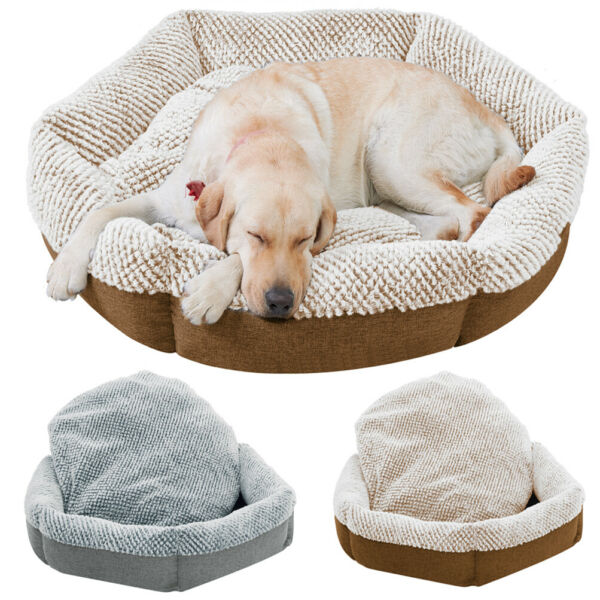 Pet Cooling Deep Sleeping Bed Orthopedic Linter Plush Dog Chaise Bed Extra Large $58.92