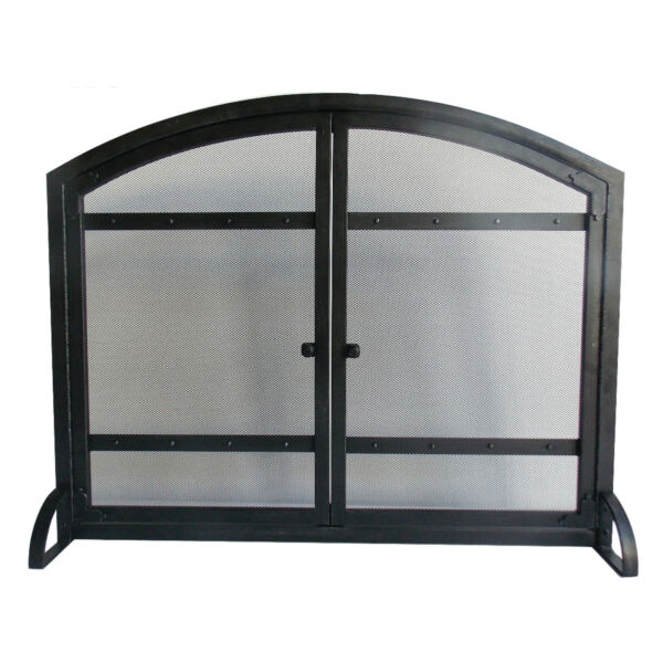 Pleasant Hearth FA338S Black Harper 1 Panel Fireplace Screen With Doors