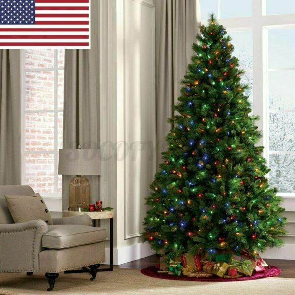 2.1M 7ft Artificial 1400Branchs Christmas Tree Holiday Festival Decor Gift US