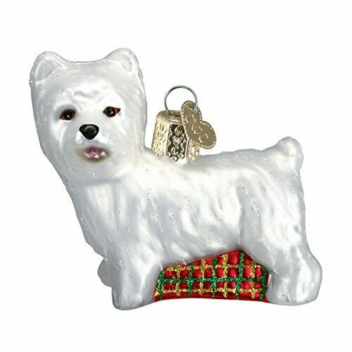 Old World Christmas Dog Collection Glass Blown Ornaments Westie $12.49