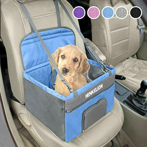 Henkelion Pet Dog Booster Seat Deluxe Pet Booster Car Seat for Small Dogs Mediu $37.17