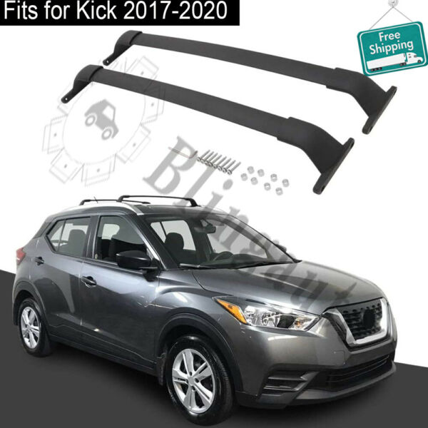 Crossbar fits for Nissan Kick 2017 2020 roof carrier luggage rack 2pc black rail $179.00