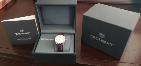 Great Condition Tag Heuer Carrera watch with purple alligator band