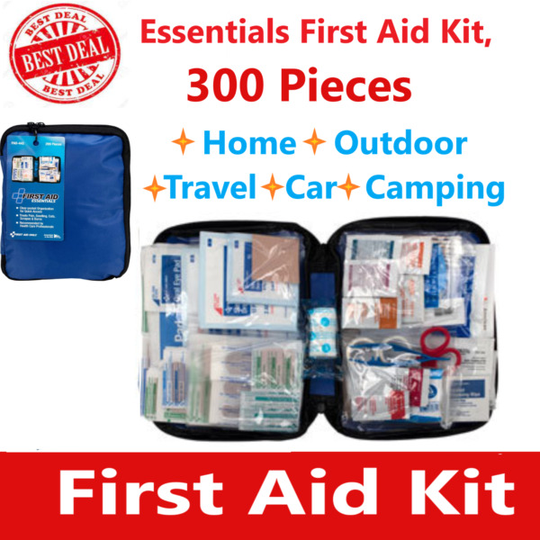 312 pc First Aid Kit Emergency Bag Home Car Outdoor All Purpose Kit Portable