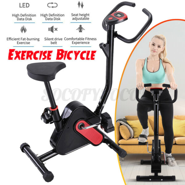 Cycling Bike Exercise Stationary Bike W phone Mount Cardio Workout Home Indoor $86.25