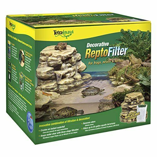 Reptile Tank Filter for 55 Gal Aquarium Turtle Frog Lizard with Decor Waterfall $34.96