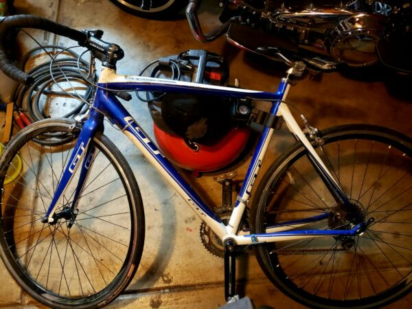 GT 4 series Black Road Bike Blue White Special Addition. Chains greased $400.00