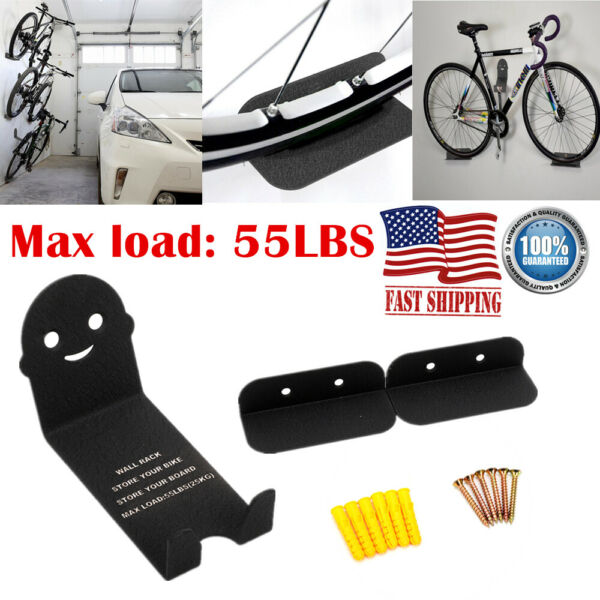 3PCS Bike Bicycle Rack Pedal Padlock Wall Mount Support Storage Hanger Stand New $18.96