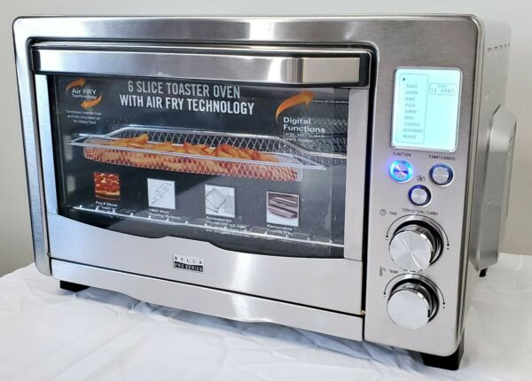 Bella 90082 Pro Series 6 Slice Air Fryer Toaster Oven Convection Stainless Steel $99.97