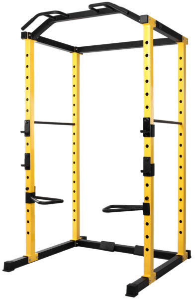 Power Cage Multi Function Adjustable Squat Rack Home Gym Body Workout HulkFit $468.52