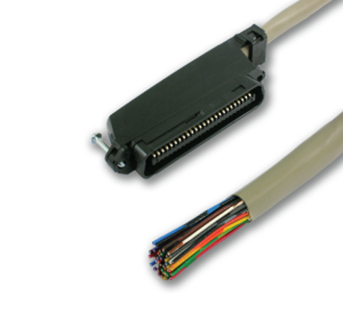 25 Pair Telco Amphenol CAT3 Trunk Cable 50 Pin Male to Blunt PBX AMP 5ft 6ft $16.95