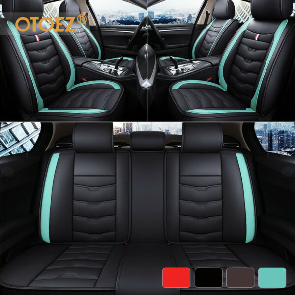 Luxury Leather Car Seat Covers Front Rear Full Set Universal For Sedan Truck SUV $65.98